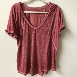 Free People Tri Blend Burnout Tee
